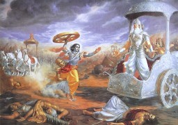 krishna-attacks-bhishma-with-chariot-wheel-QC72_l